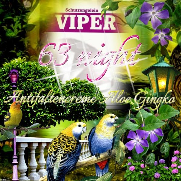 Viper 63, Antifaltencreme Nacht Aloe Gingko www..